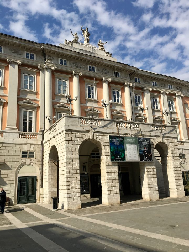The Teatro Verdi, Trieste's main opera house
