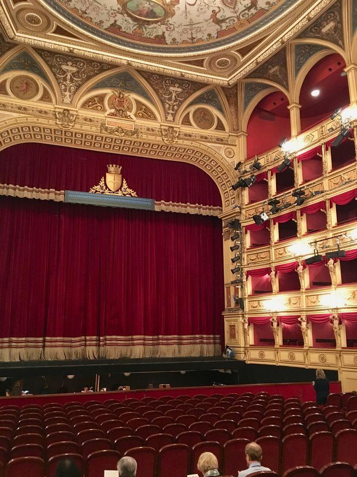 The auditorium of the Teatro Verdi