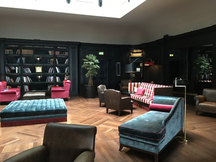 """The hotel's """"library"""" lounge"""