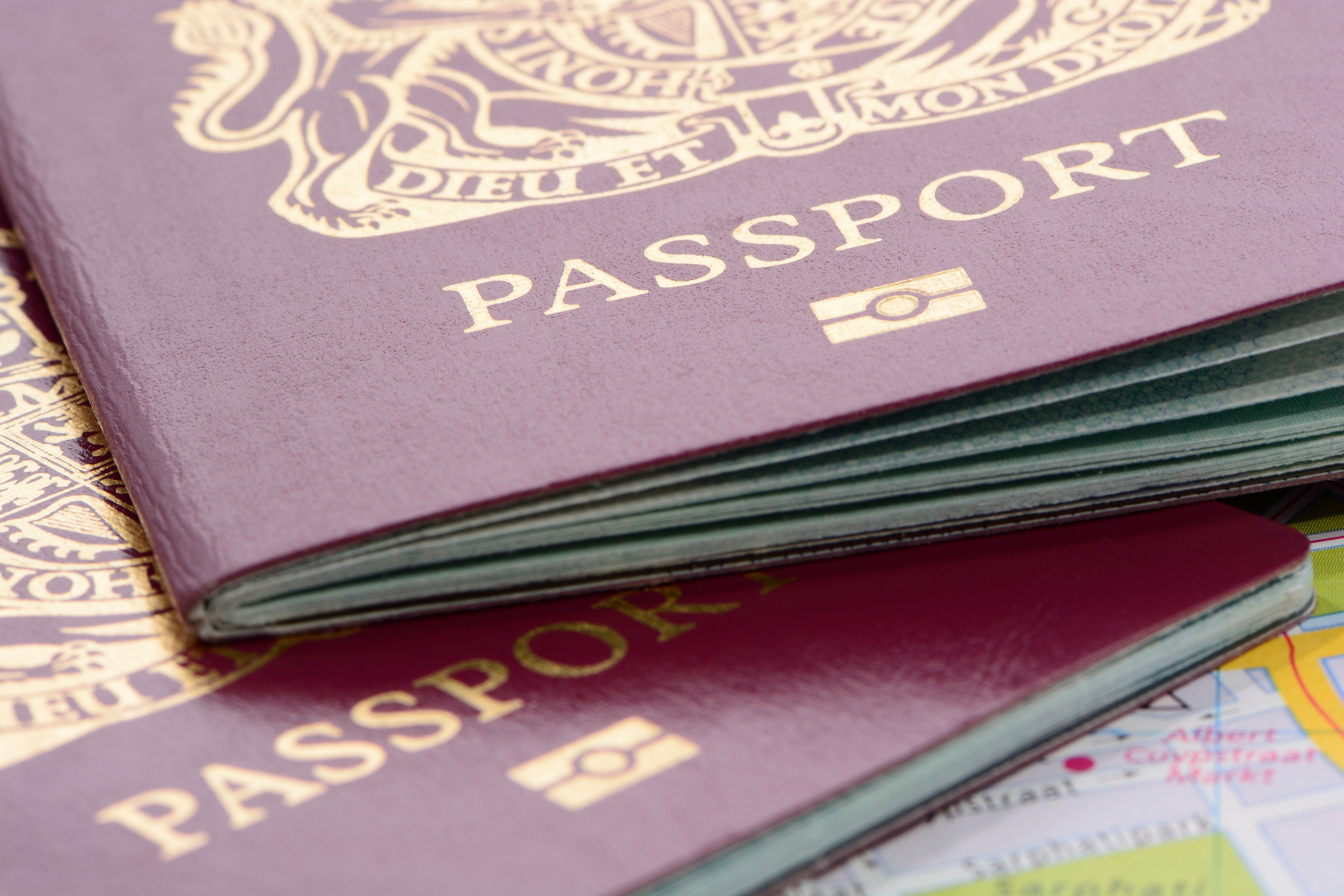 Apparently burgundy passports are a 'source of national