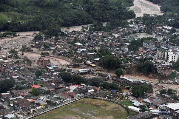 An aerial view of Mocoa on April 1.