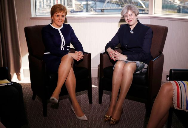 Scotland's First Minister Nicola Sturgeon and UK Prime Minister Theresa May met last