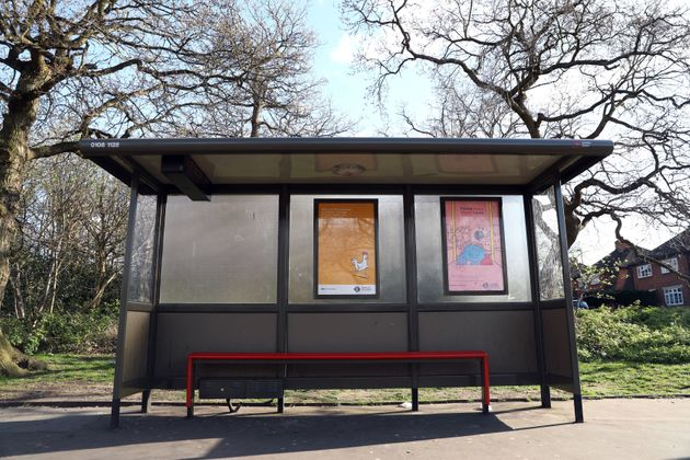 A bus stop near the Goat Pub in Croydon,