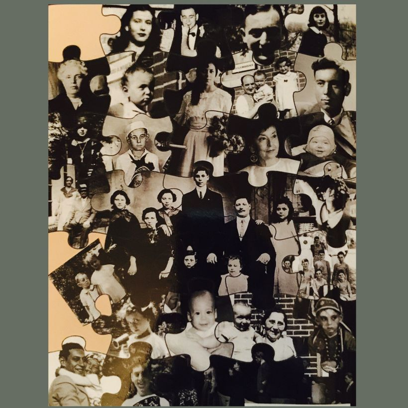 Back cover Jigsaw puzzle of Yellen family