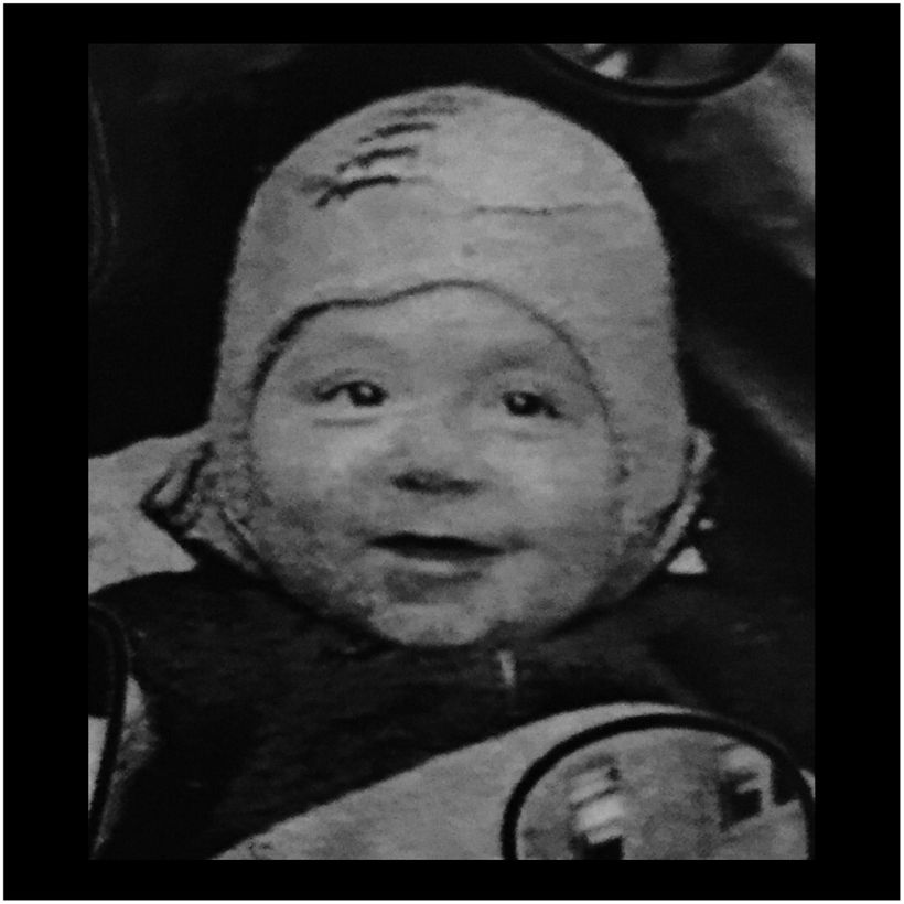 Sherman shown here in his baby carriage - was born the week of the Lindbergh kidnapping.
