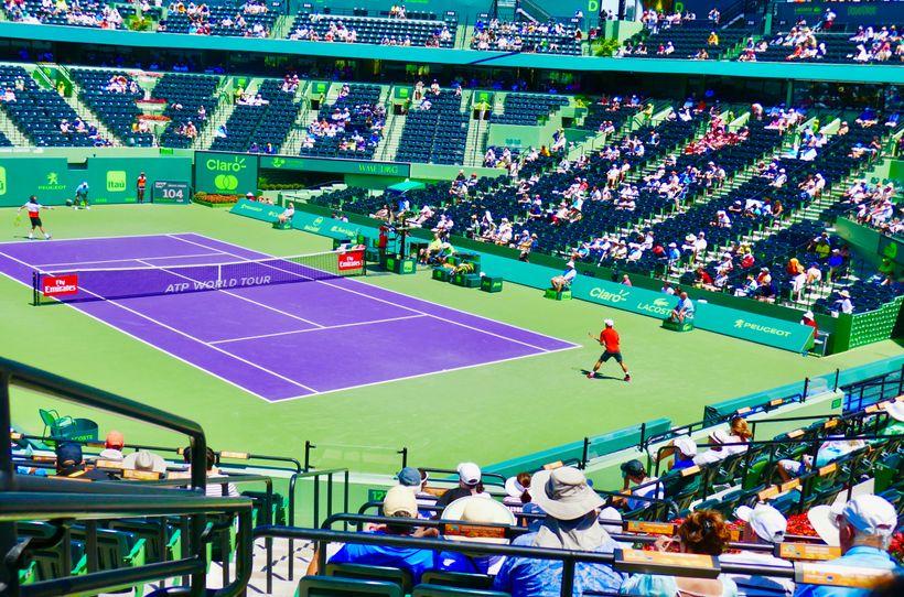 Kei Nishikori at the Miami Tennis Open