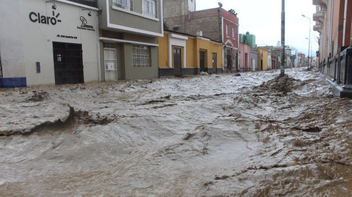 Devastating landslides in the city of Trujillo on March 17, 2017. The mayor, Elidio Espinoza, indicated that this is was the