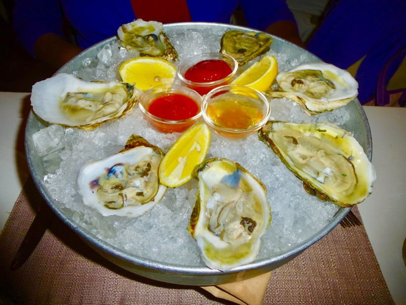 The Blue Point Oysters appetizer