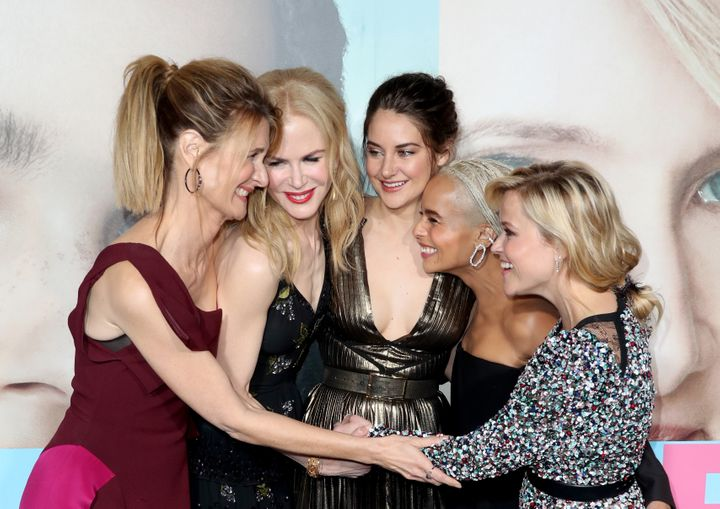 """Laura Dern, Nicole Kidman, Shailene Woodley, Zoe Kravitz and Reese Witherspoon attend the premiere of HBO's """"Big Little Lies"""""""