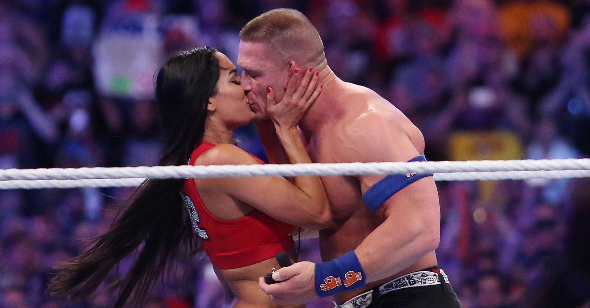 John Cena Popped The Question To Nikki Bella During WrestleMania 33 ...
