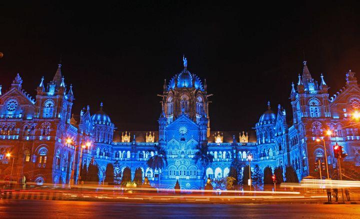 The Chhatrapati Shivaji Terminus building was also lit in blueto support World Autism Awareness Day in Mumbai, India.
