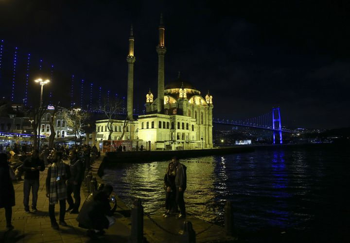 The July 15 Martyrs Bridge was lit blue for World Autism Awareness Day in Istanbul, Turkey.
