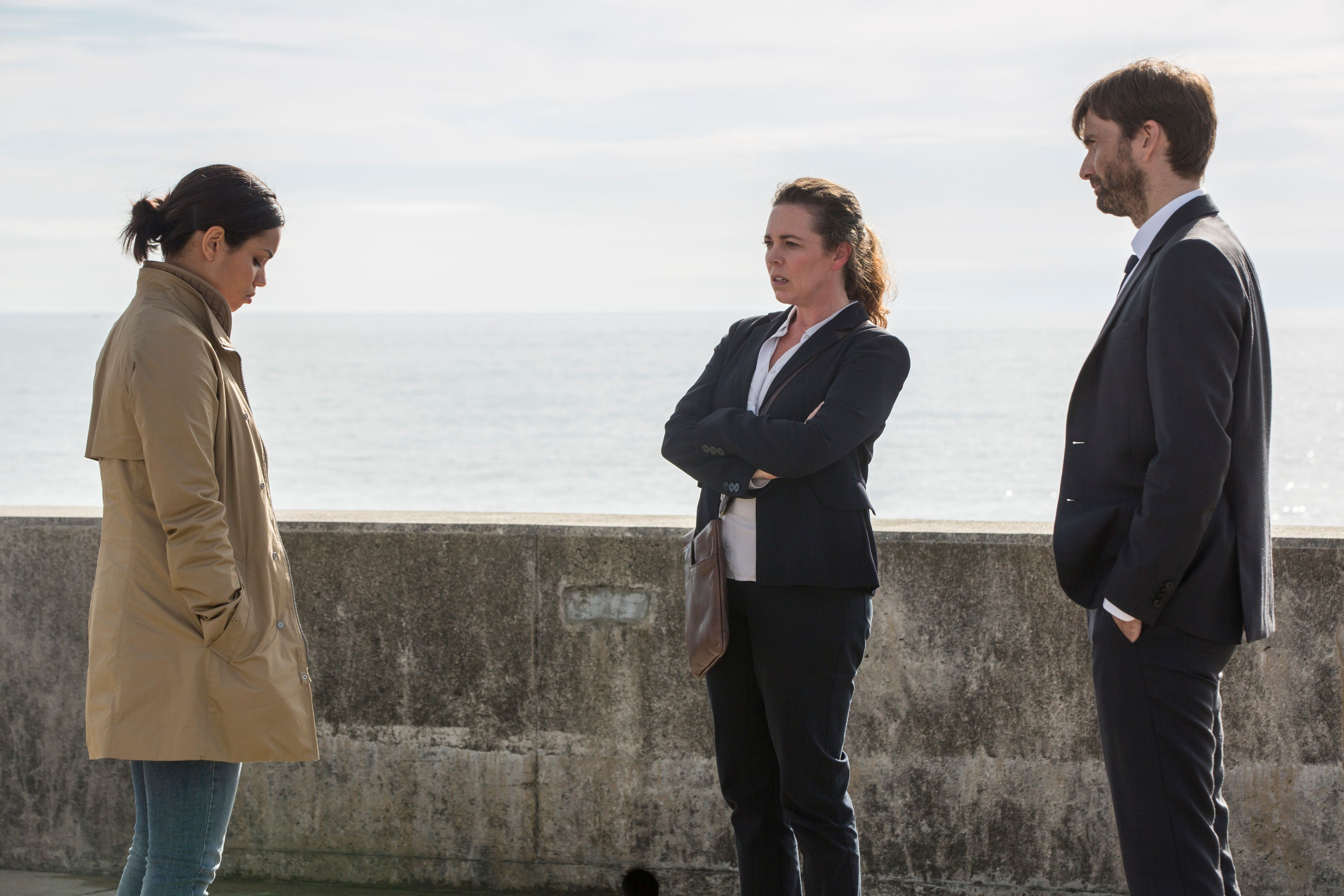 Detectives Miller and Hardy have a showdown with their colleague Kate this