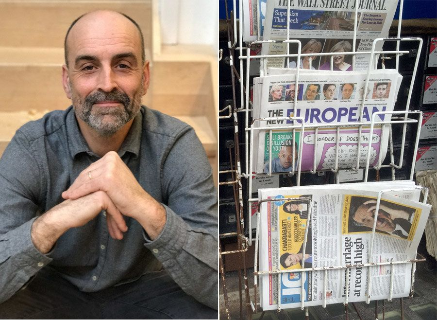 Matt Kelly and the first edition of The New European published in