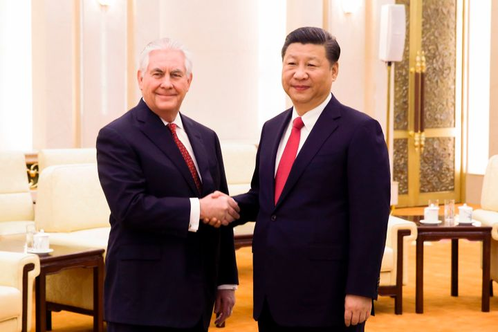 Tillerson meets with Xion March 19.