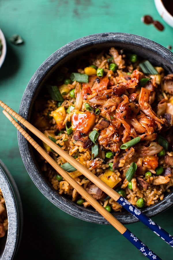 "<strong>Get the <a href=""https://www.halfbakedharvest.com/kimchi-chicken-and-bacon-fried-rice/"" target=""_blank"">Kimchi, Chick"