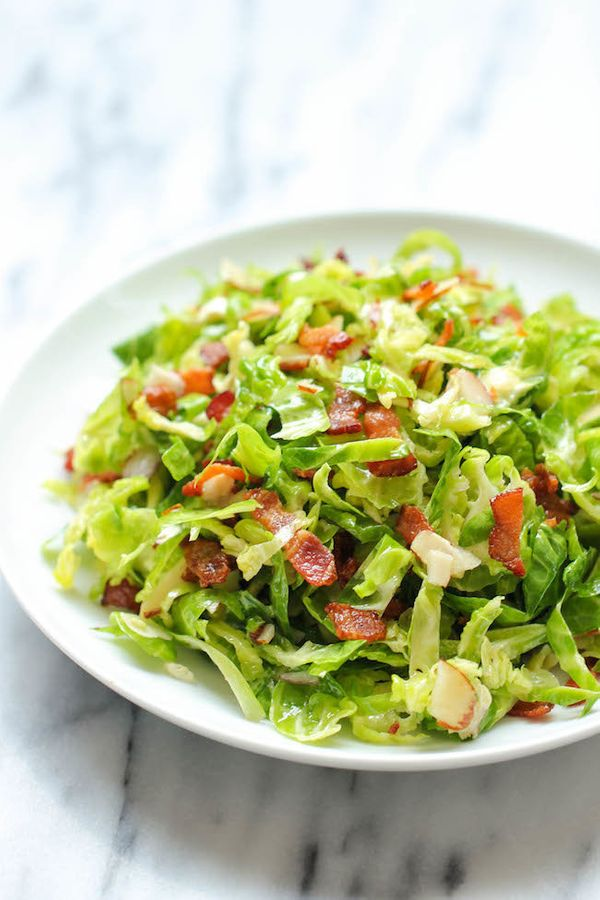 "<strong>Get the <a href=""http://damndelicious.net/2013/11/18/brussels-sprouts-salad/"" target=""_blank"">Brussels Sprouts Bacon"