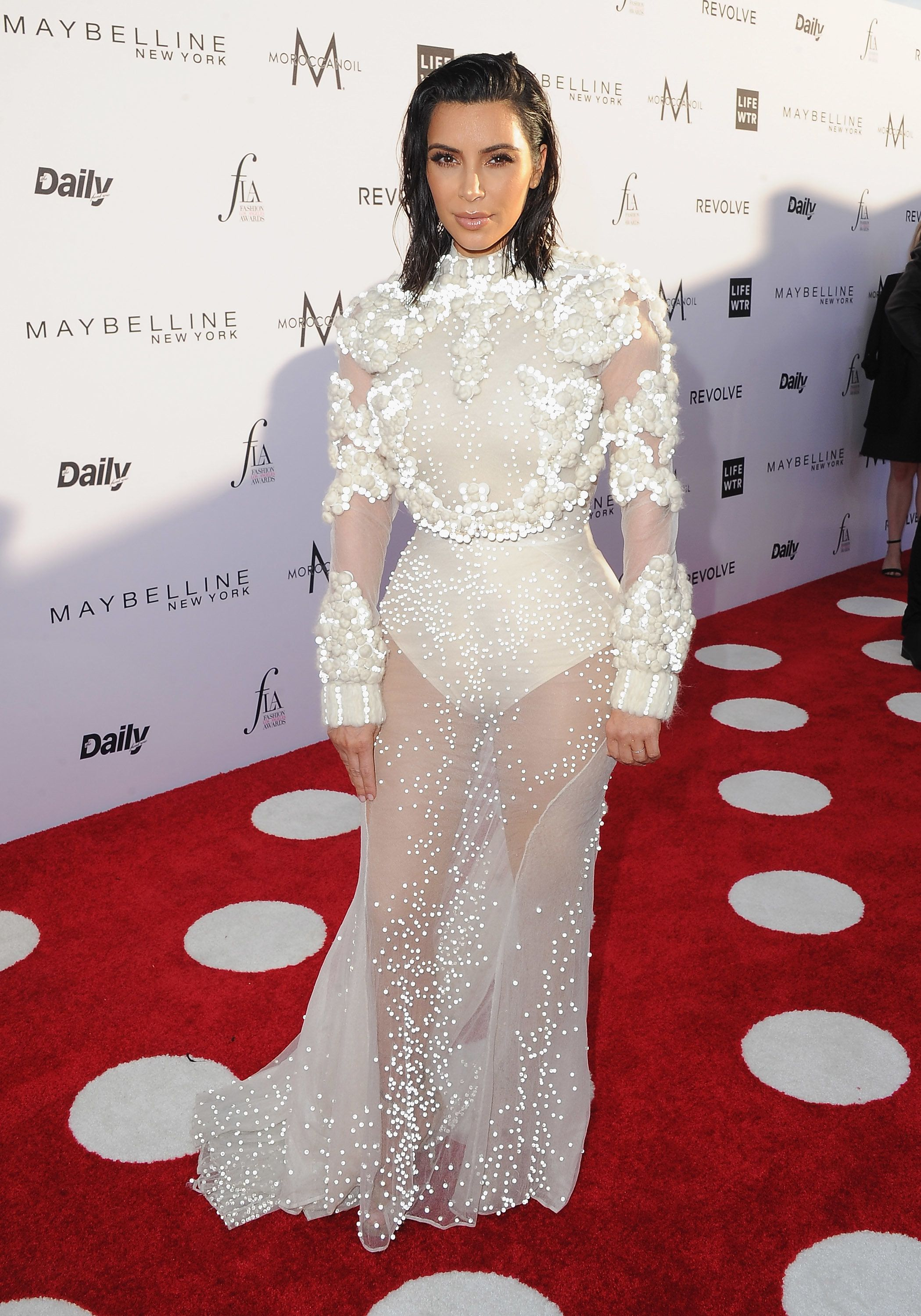 WEST HOLLYWOOD, CA - APRIL 02:  Kim Kardashian arrives at the Daily Front Row's 3rd Annual Fashion Los Angeles Awards at the Sunset Tower Hotel on April 2, 2017 in West Hollywood, California.  (Photo by Jon Kopaloff/FilmMagic)