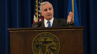 ST. PAUL, MN - JULY 08: Minnesota Governor Mark Dayton speaks at a media briefing on the Philando Castile police shooting on July 8, 2016 in St. Paul, Minnesota. Dayton spoke about the killing of Philando Castile and of the shootings in Dallas last night. (Photo by Stephen Maturen/Getty Images)