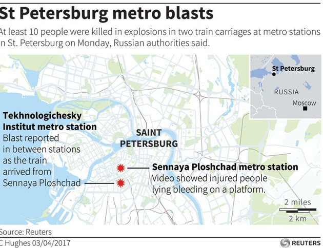 Explosion In St. Petersburg Metro System Kills At Least 11