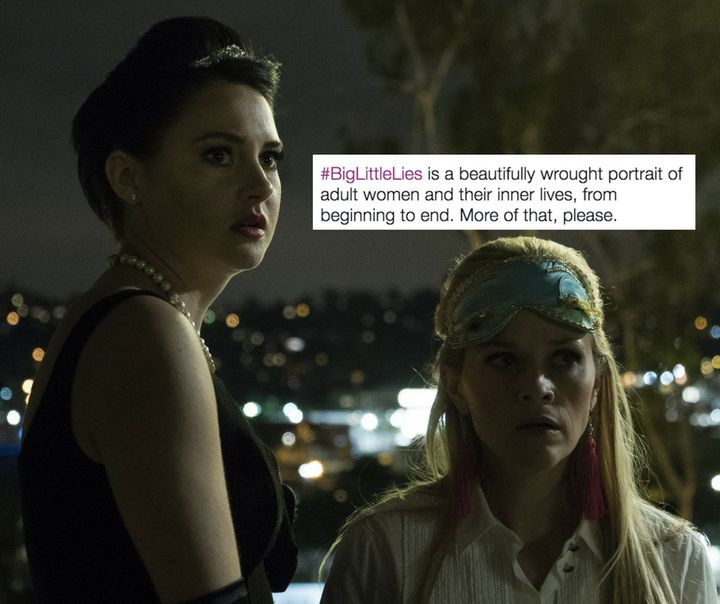 """Shailene Woodley and Reese Witherspoon in the finale episode of HBO's """"Big Little Lies."""""""