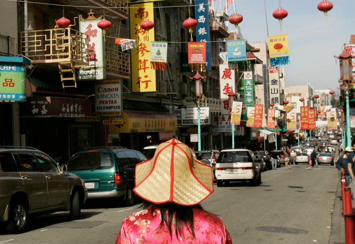 A woman in the Chinatown neighborhood of San Francisco.