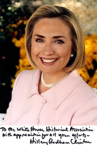 An official photograph of Mrs. Clinton.