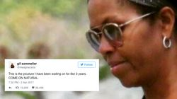 Everyone's Very Excited About Michelle Obama Rocking Her Natural