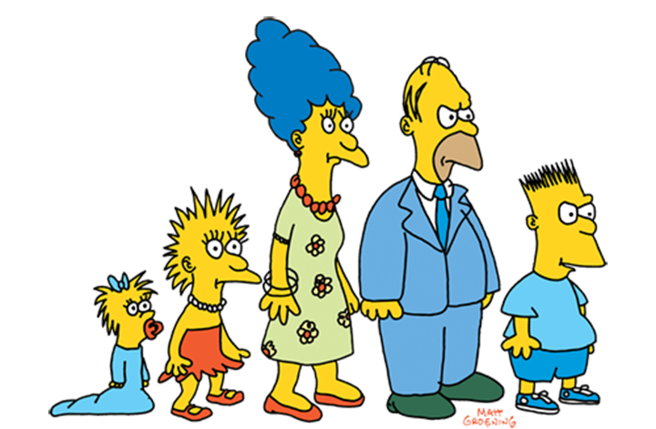 "The Simpsons family drawings on ""The Tracey Ullman Show"""