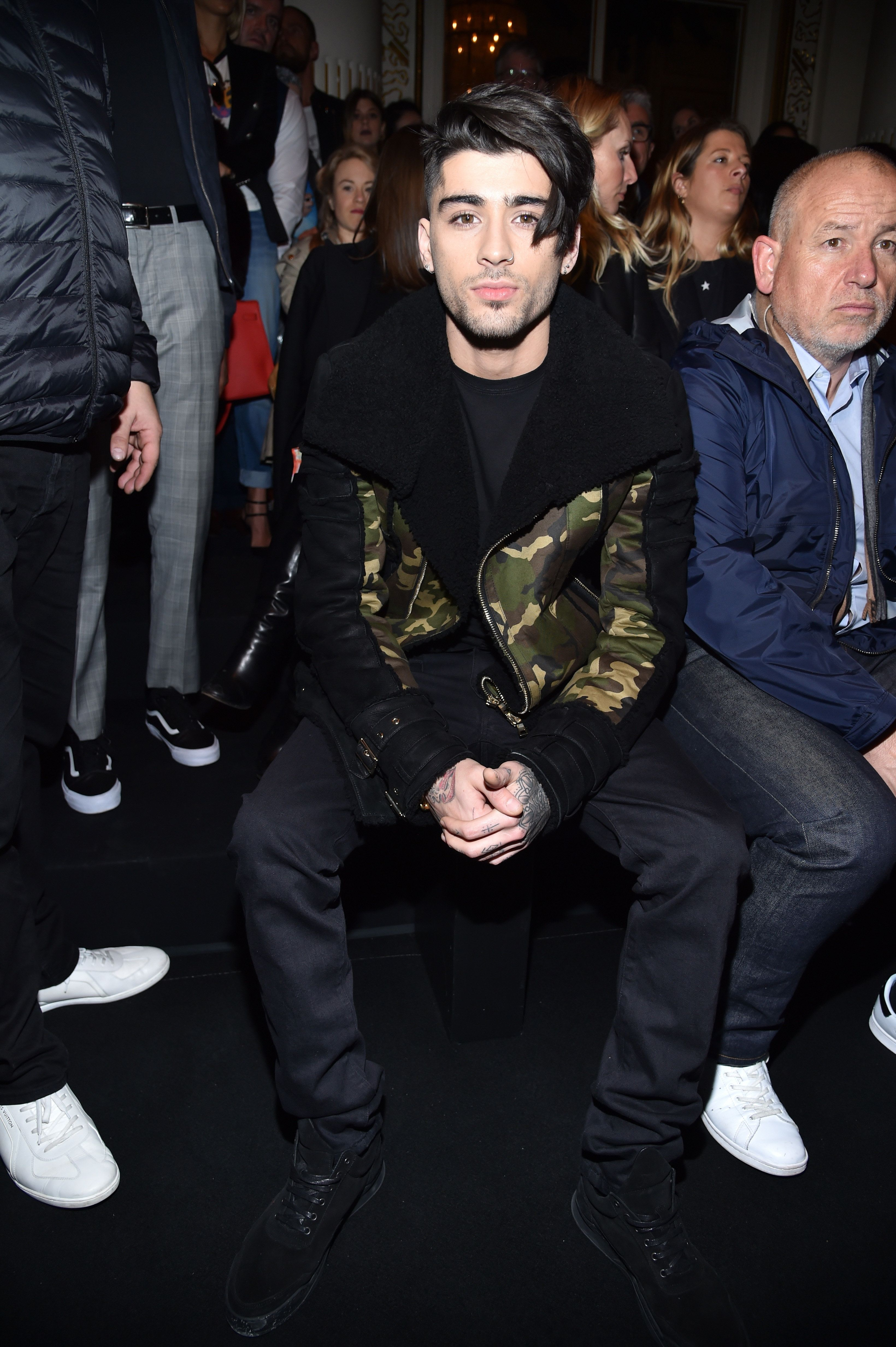 PARIS, FRANCE - MARCH 02:  Zayn Malik attends the Balmain show as part of the Paris Fashion Week Womenswear Fall/Winter 2017/2018 on March 2, 2017 in Paris, France.  (Photo by Pascal Le Segretain/Getty Images)