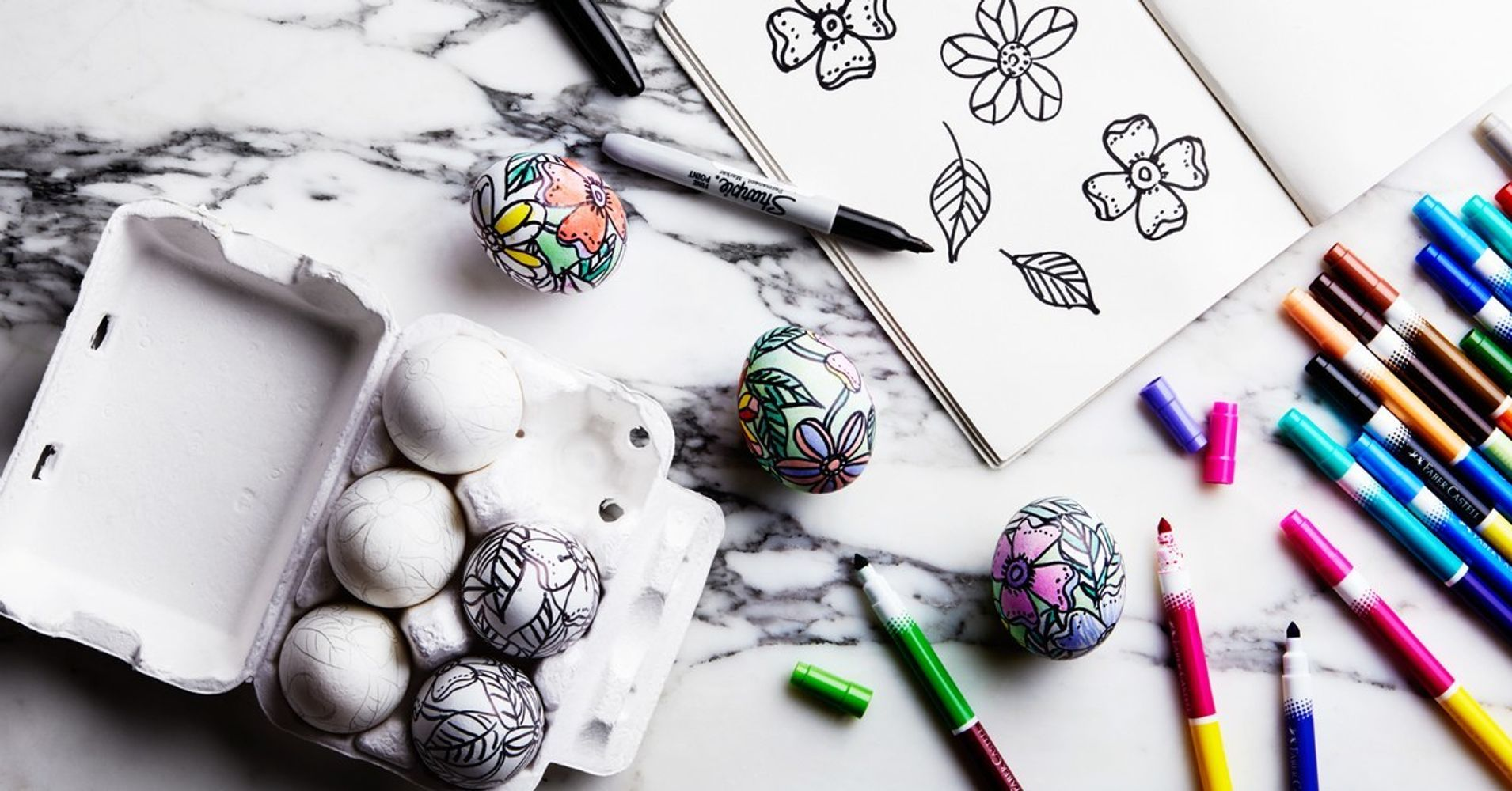 these coloring book eggs are the coolest easter craft ever huffpost