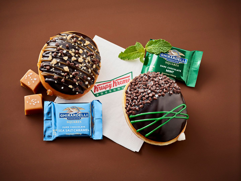 Krispy Kreme's new treats soundbasically like the doughnut versions ofMilk Duds and Junior Mints.