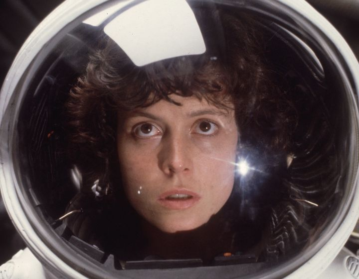 "Sigourney Weaver as Ripley in ""Alien."""