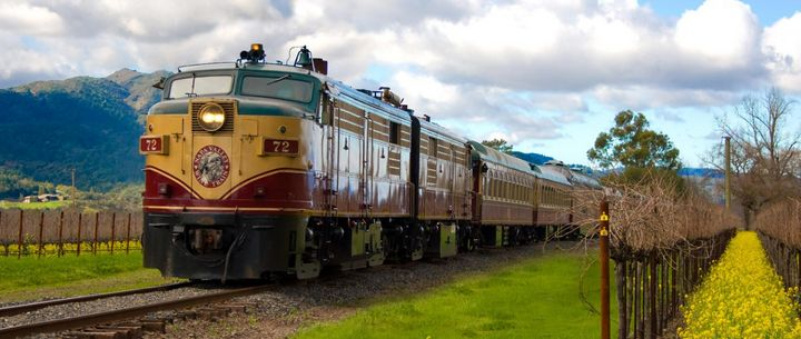 The Napa Valley Wine Train is a great way to see wine country.