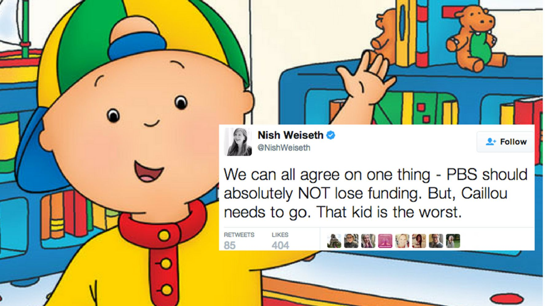 foto de This Is How Much People Hate 'Caillou' HuffPost Life
