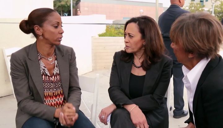 """I want to be respectful of that fact that she's been so busy,"" Peete says of her friend, Sen. Harris. ""But when you kno"