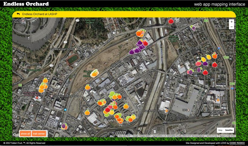Endless Orchard Web App, Mapping Interface