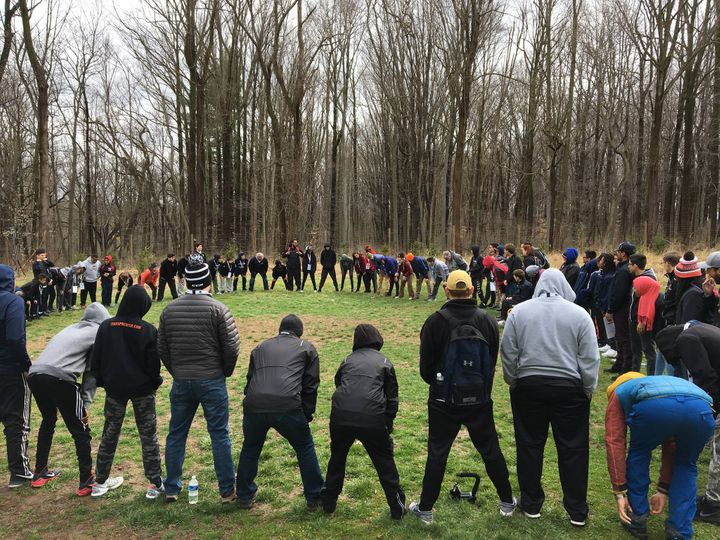 "Willie O'Ree Skills Weekend participants engage in an <a rel=""nofollow"" href=""https://www.outwardbound.org/"" target=""_blank"">"