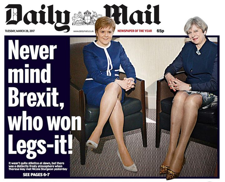 May refused to comment on this 'sexist' Daily Mail front page