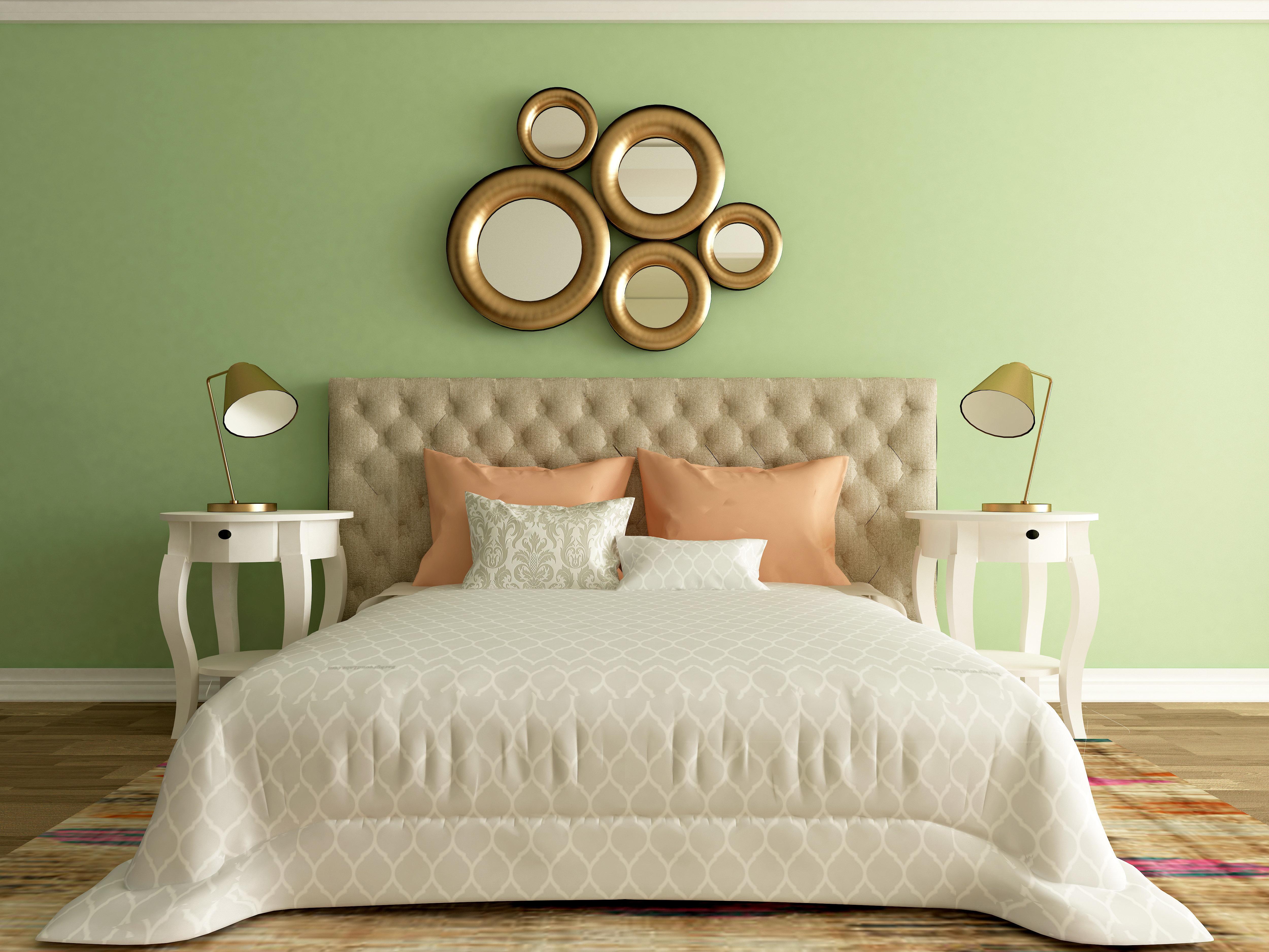 bedroom interior, elegant luxury room, hotel design