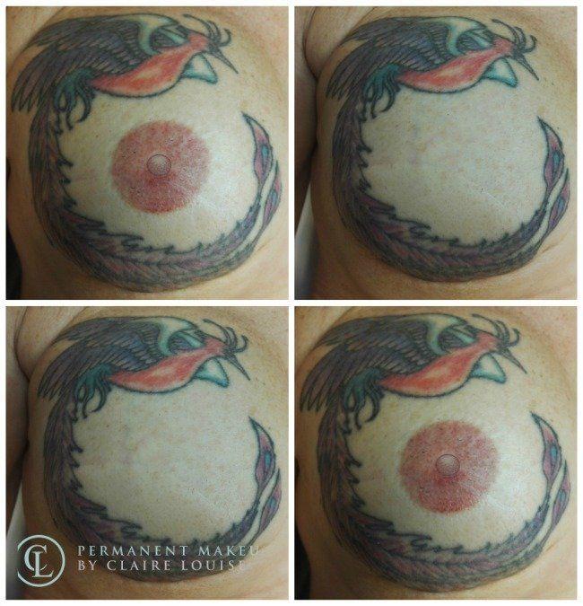 Jo Shorey's new areola tattoo.