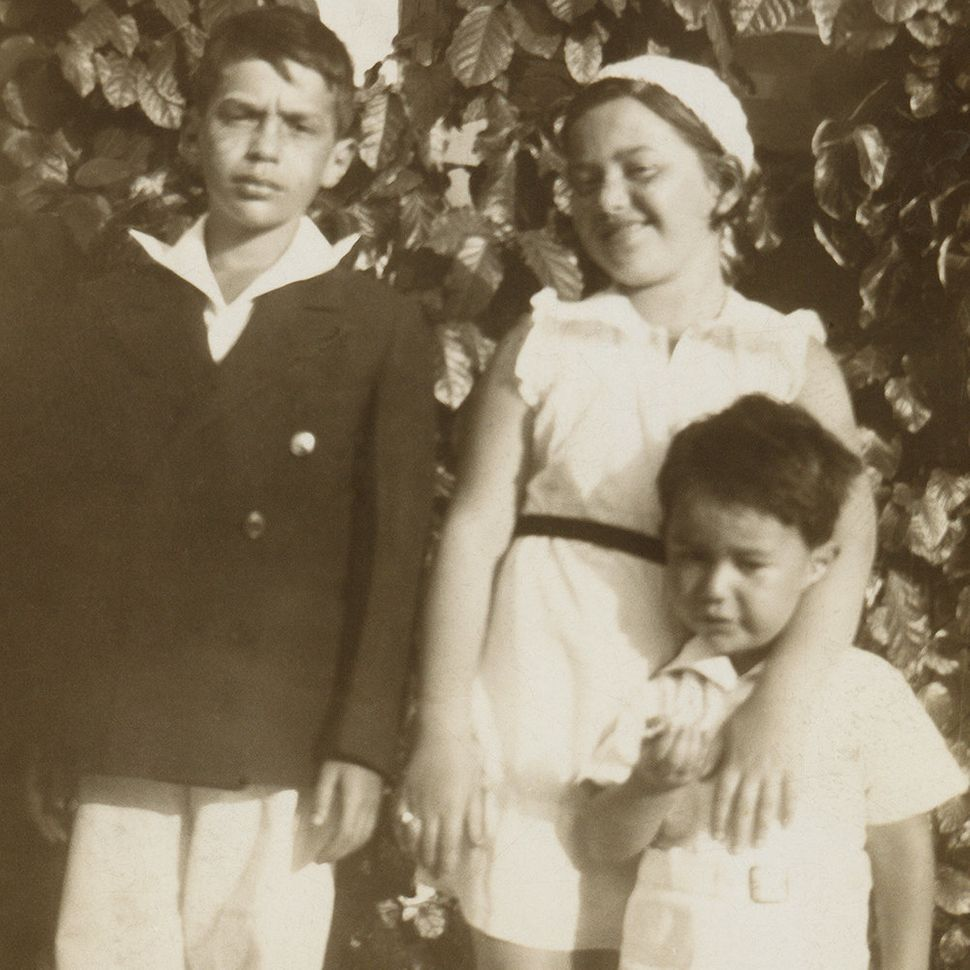 """Mom with her brothers, 1935."""
