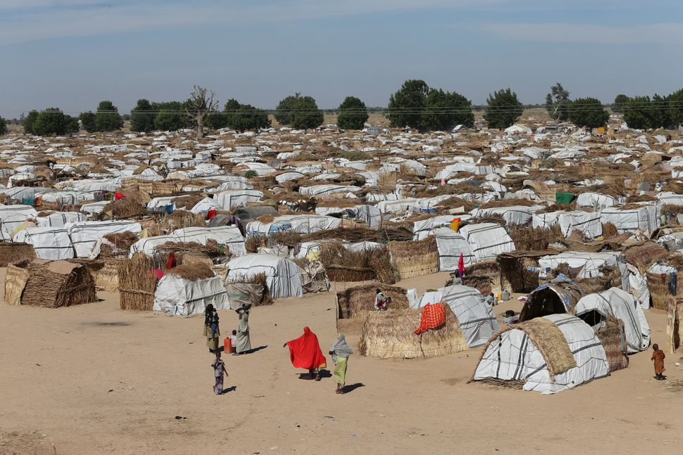 The Muna camp in Maiduguri, Nigeria, holds internally displaced refugees.