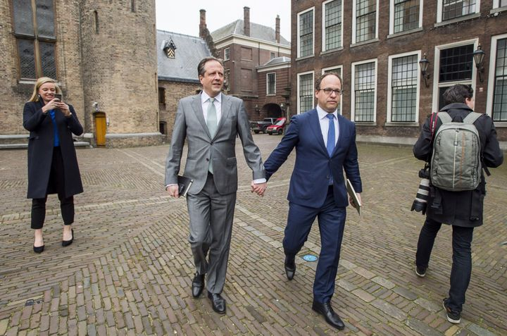 """We think it is quite normal in the Netherlands to express who you are,"" Alexander Pechtold (left) said."