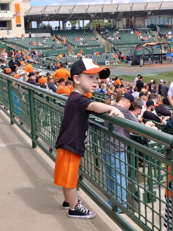 """Checking out the Orioles at Spring Training. We are excited for opening day!"""