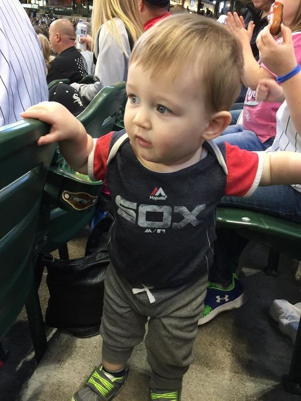 """At Miller park cheering on the White Sox at an exhibition game vs the Brewers on Saturday."""