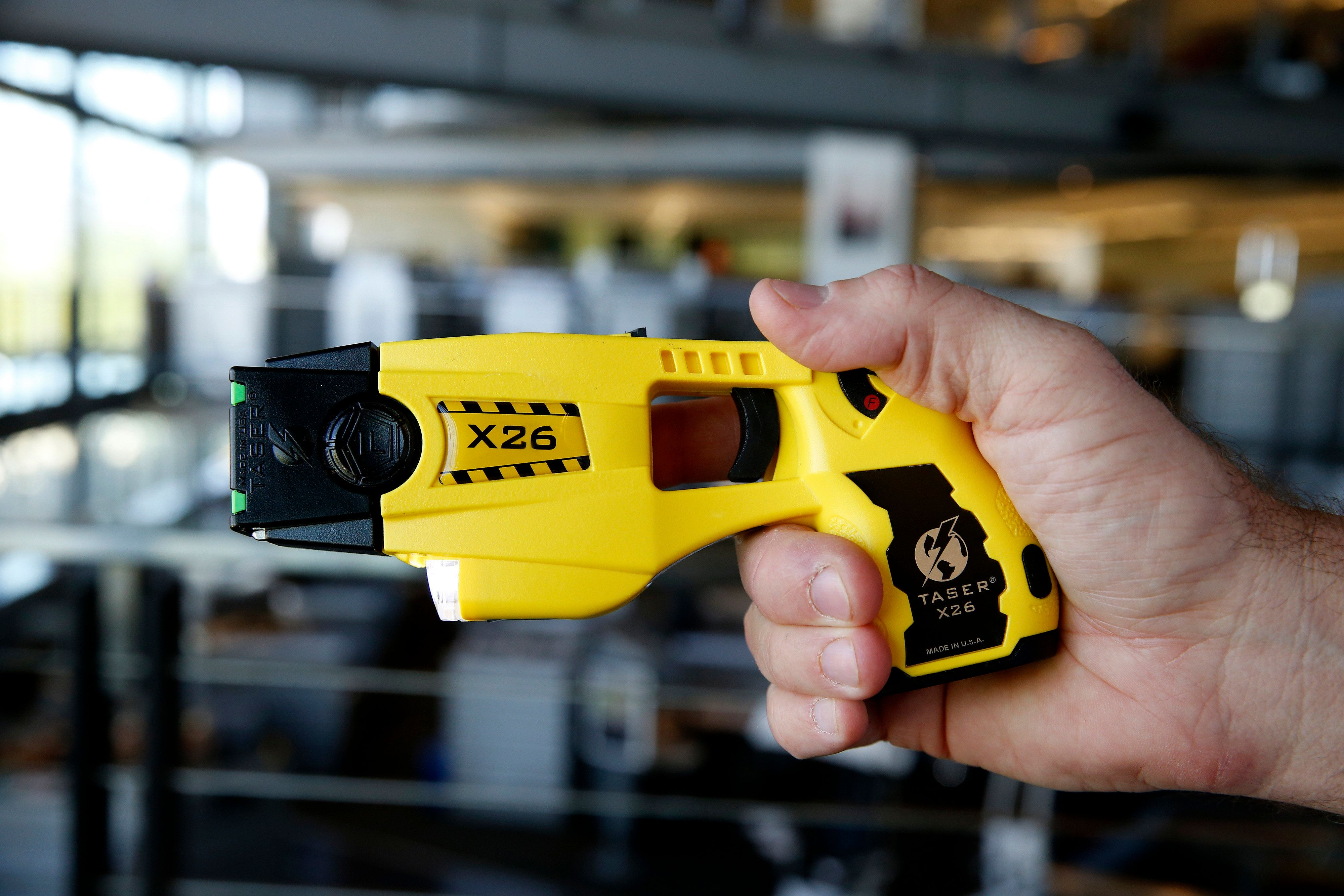 A Taser X26 at the Taser International Inc. manufacturing facility in Scottsdale, Arizona, on April 22, 2015.
