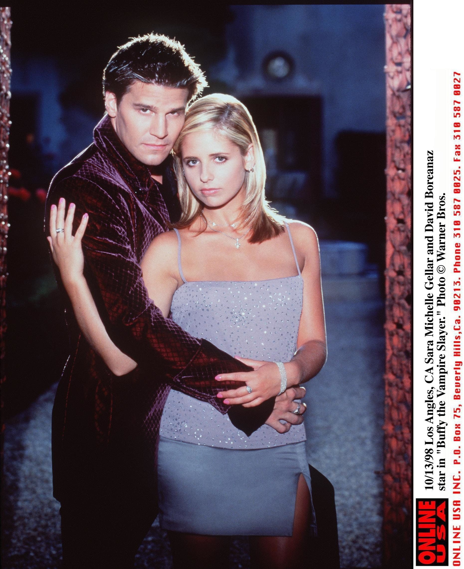"Sarah Michelle Gellar and David Boreanaz star in ""Buffy the Vampire Slayer"" in 1998."