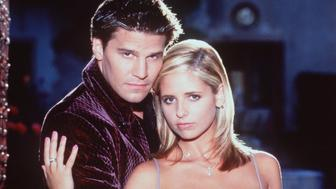 1998 Sarah Michelle Gellar and David Boreanaz star in 'Buffy the Vampire Slayer..'