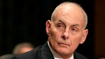 Retired General John Kelly testifies before a Senate Homeland Security and Governmental Affairs Committee confirmation hearing on Kelly's nomination to be Secretary of the Department of Homeland Security on Capitol Hill in Washington, U.S., January 10, 2017.      REUTERS/Joshua Roberts